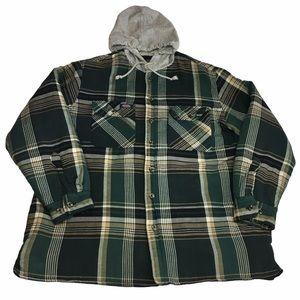 Vintage Dickies Quilted Plaid Hooded Jacket Sz XL